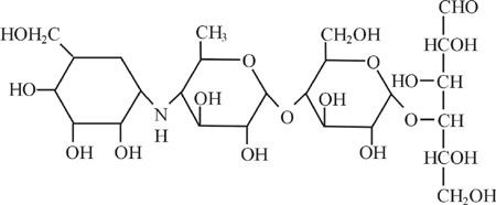 图1 分子结构式示意图