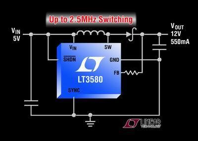 凌力尔特推出升压型 dc/dc 转换器 lt3580图片
