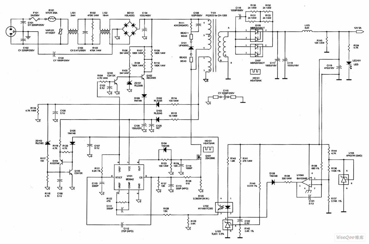 示波器电路�_图1 电源适配器电路; 用示波器维修开关电源技法; 示波器维修开关