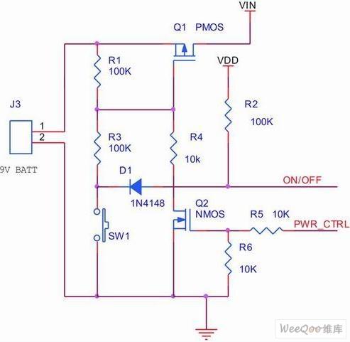单键开关机和自动关机电路