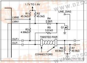 支持短路检测的线路故障监测电路