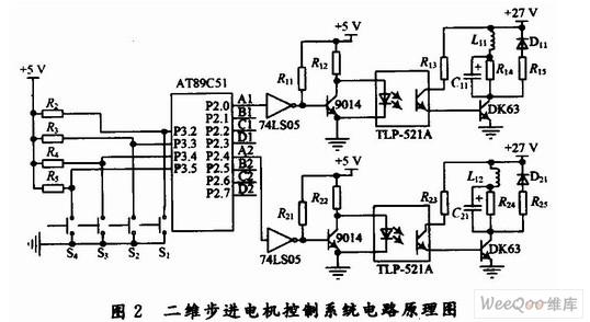 二维步进电机控制系统原理