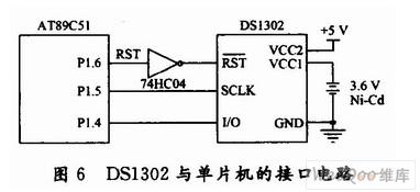 DSl302与AT89C51单片机接口电路
