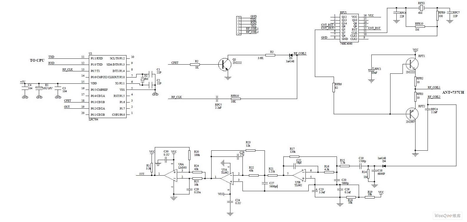 儿童电动车电路图-RFID电路原理图
