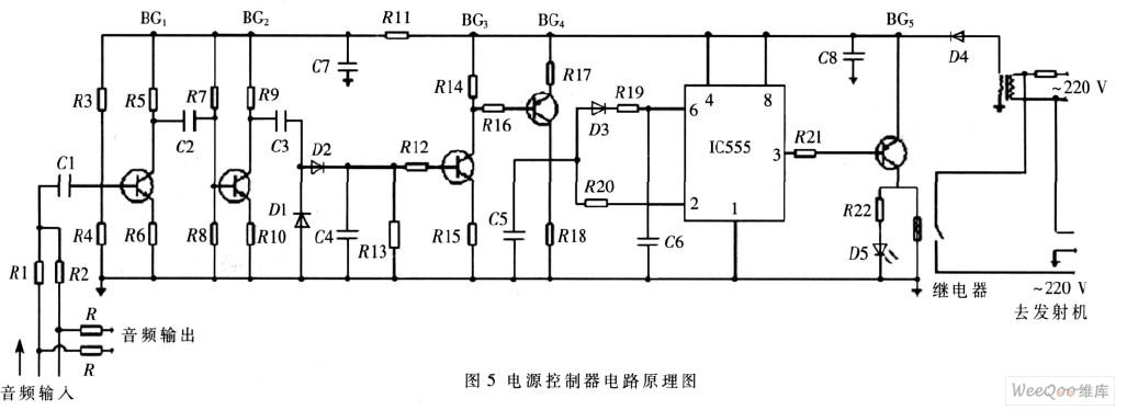 电路中工作电源VDD采用12 V,将上限阀值输入端VTH(脚)和下限阀值输入端VTR(脚)短接作为触发输入端(Vi),当输入电平(、脚)>2/3 VDD时(Vi>8V),输出端Vo(脚)为低电位(Vo=0),当输入电平(、脚)<1/3VDD时(Vi<4 V),输出端Vo(脚)变为高电位(Vo=1)。   2.