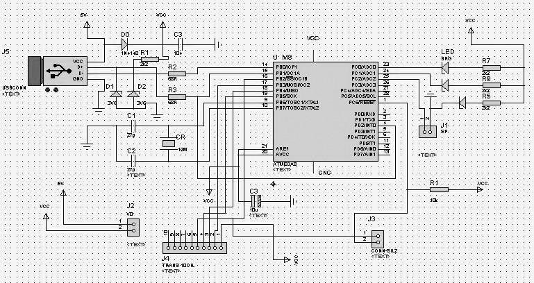 at89s系列单片机isp下载线设计