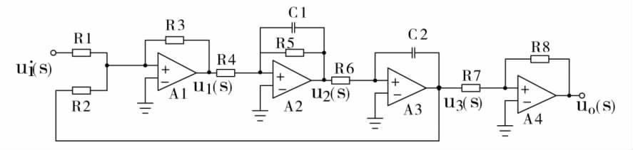 二阶振荡环节拉氏运算电路