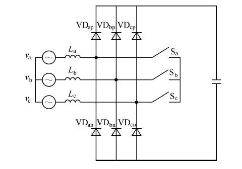 图1 双并联升压型三相整流器主电路拓扑图