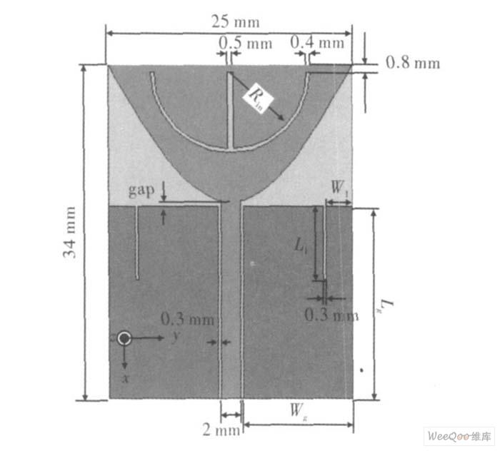 摘要:提出了一种具有双阻带特性的共面波导馈电超宽带天线.图片