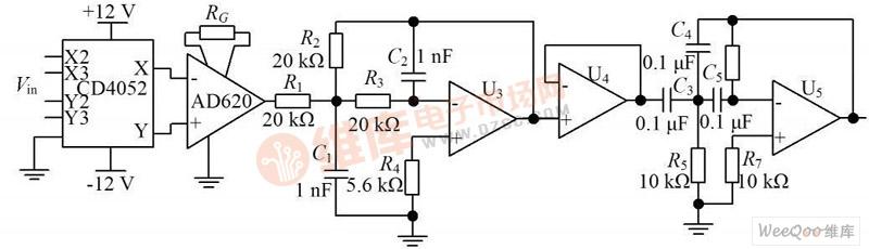 前置信号放大电路原理图