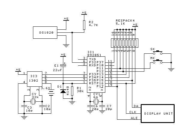 nixie tube clock schematic