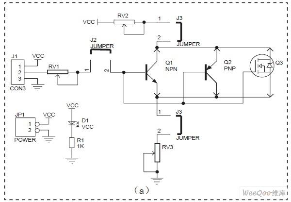 图4(a)是晶体管测试电路板的原理图