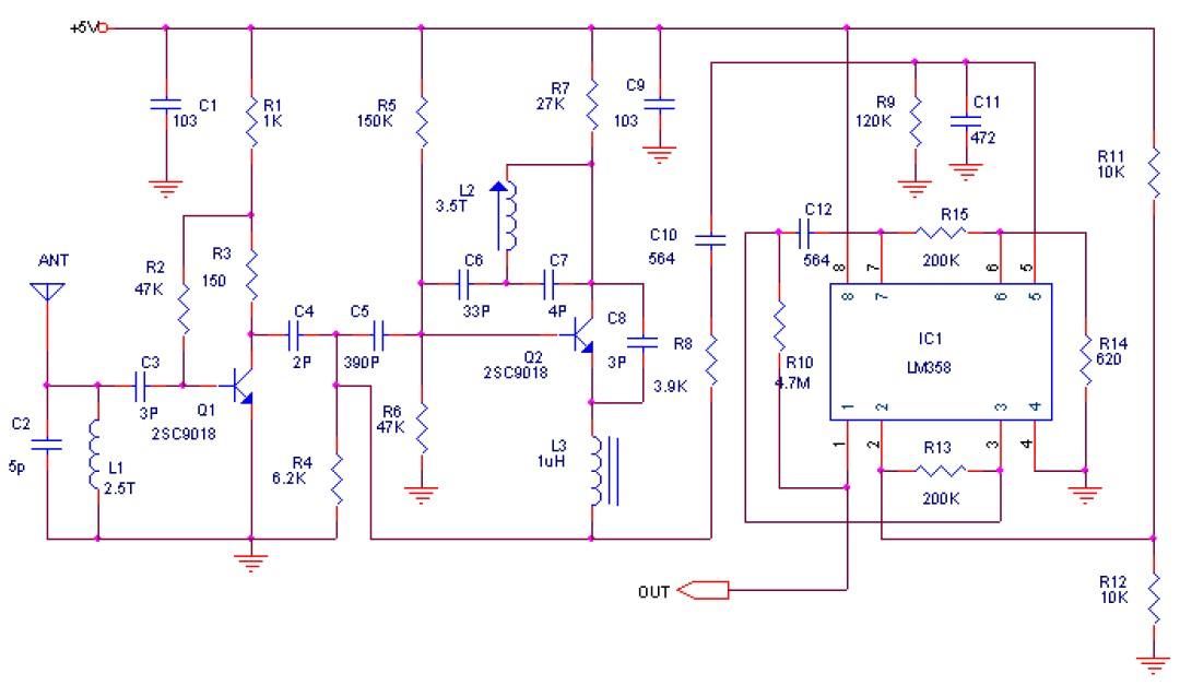 典型的超再生接收电路