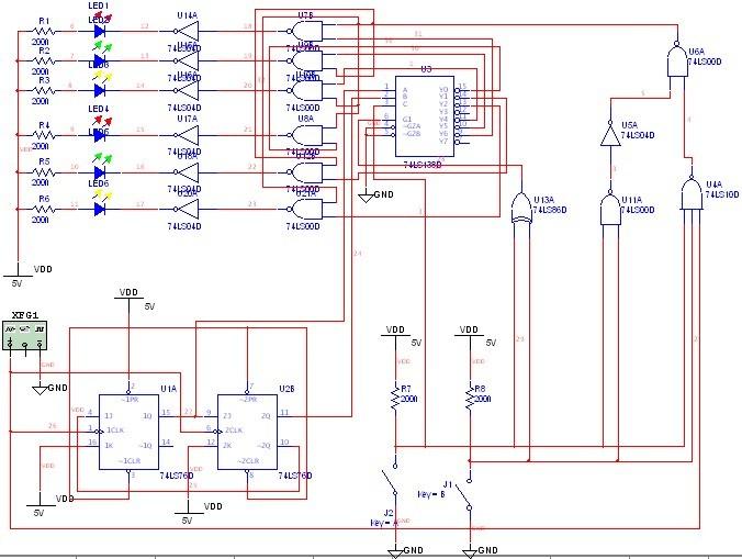 基于multisim的汽车尾灯控制设计