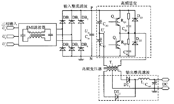 图2 功率主电路原理图