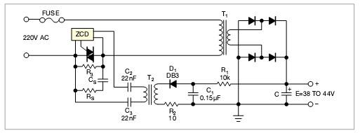 控制交流电源中浪涌电流的电路