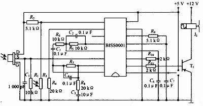 图3 释热电红外传感器结构
