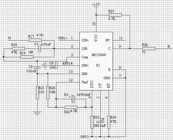 图 7 MC33060 控制电路