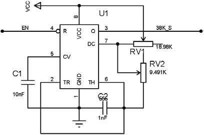 红外方波信号产生电路图