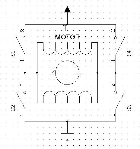 图1 H 桥驱动原理电路图