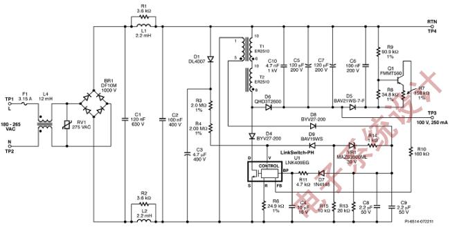 用单级led驱动器改进蜡烛灯设计