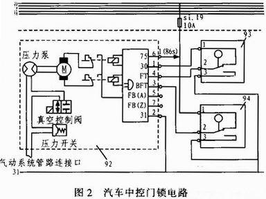 汽车门锁控制电路分析与设计