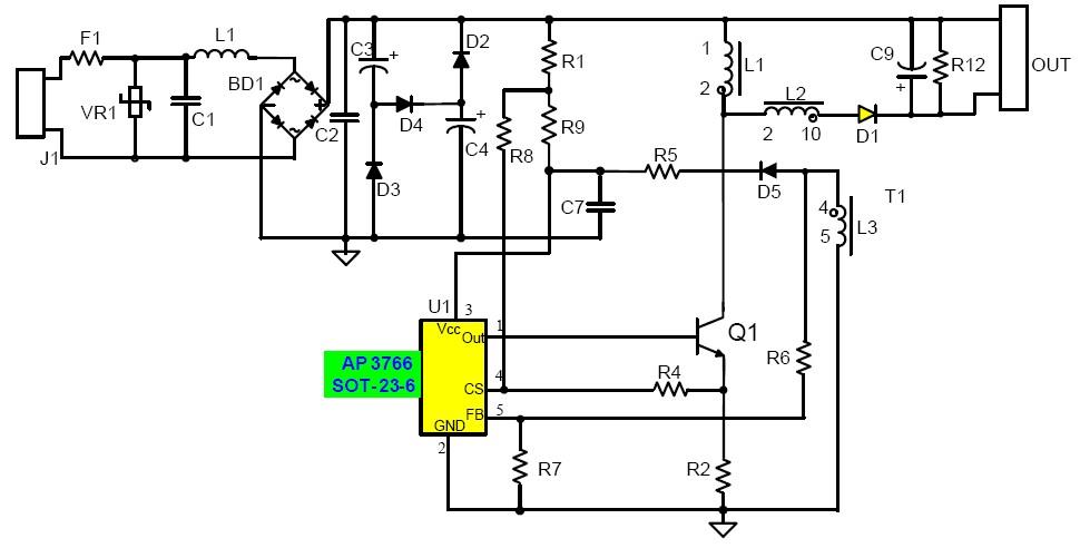 led驱动电路原理图