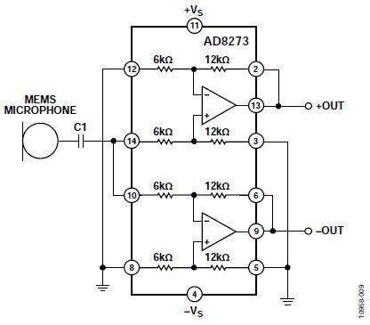 用于mems麦克风前置放大器电路的运算放大器