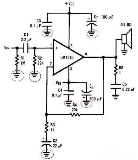功放电路pcb布线的问题及防治措施