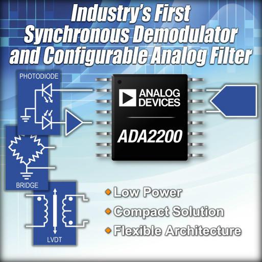 ADI最新同步解调器提高信号测量灵敏度