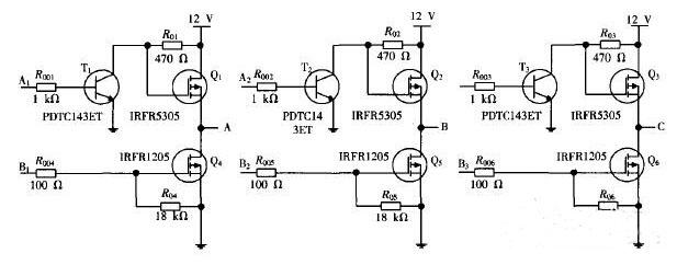 图1 无刷直流电机三相六臂全桥驱动电路-四轴飞行器三相六臂全桥驱动图片
