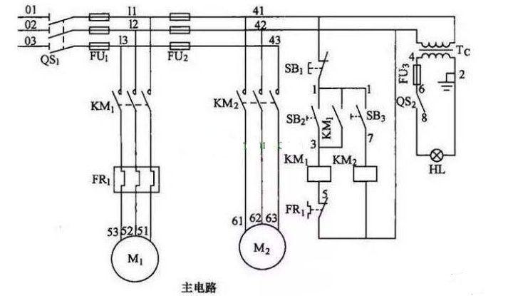 电气控制电路图的识图技巧