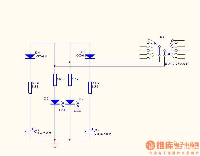 电机驱动电路图 - 维库电子市场网