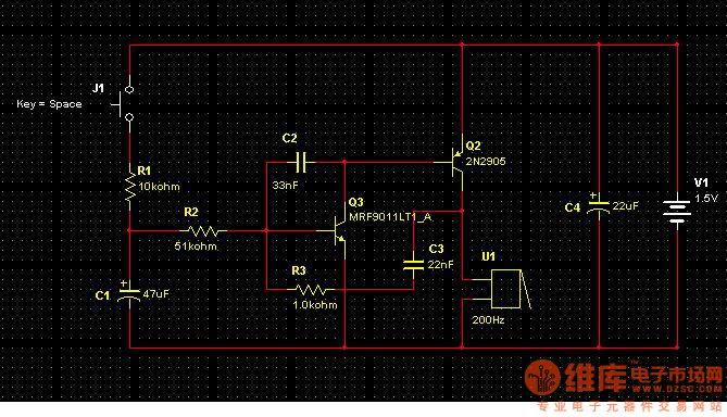 互补型自激多谐振荡器