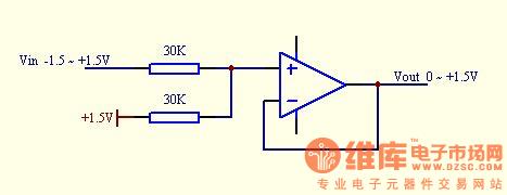 两个电阻加一个电压跟随器