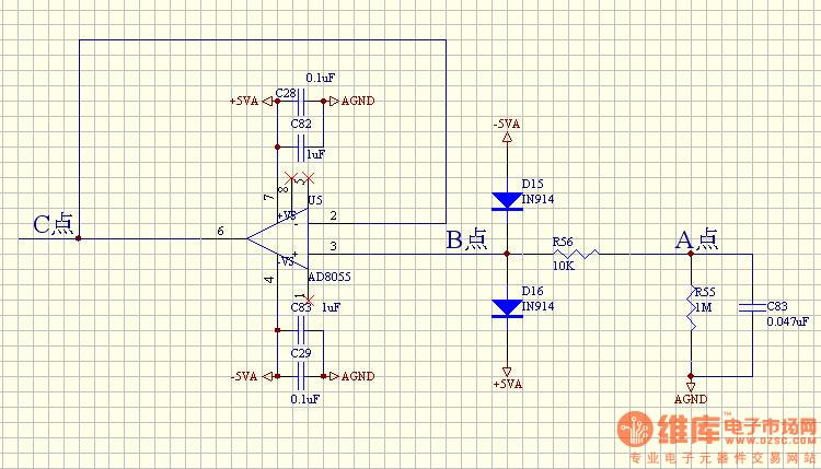 常用电压跟随器芯片_原理:如下图 常用的电压跟随器接法,正相输入端a点没有接输入信号