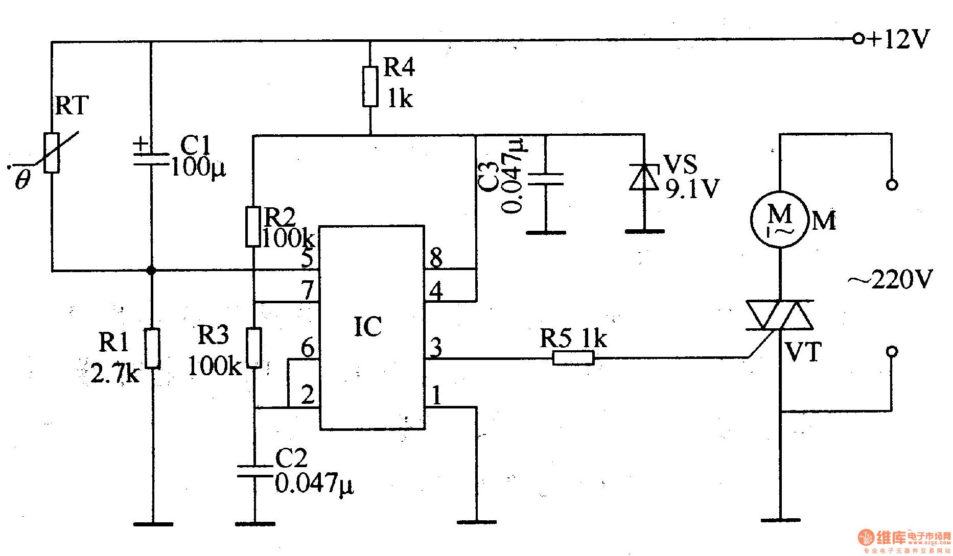 温控式电风扇调速器