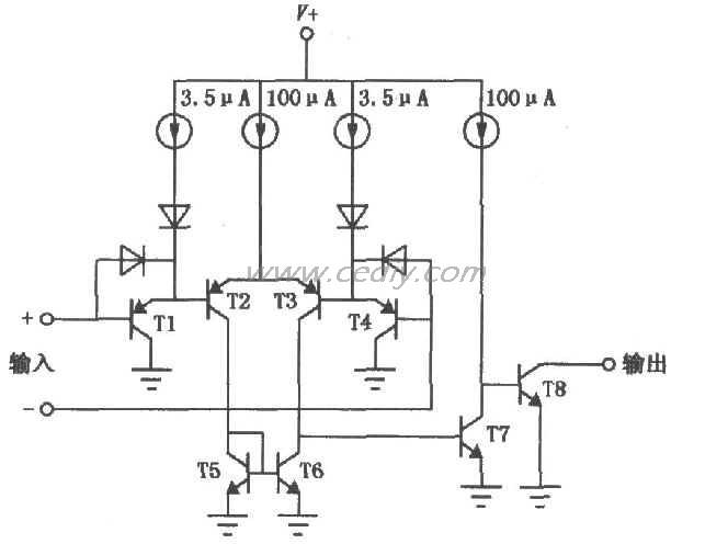 LM139、LM239、LM339低功耗低失调电压比较器