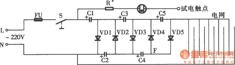 BZN-5型电子灭蝇器电路