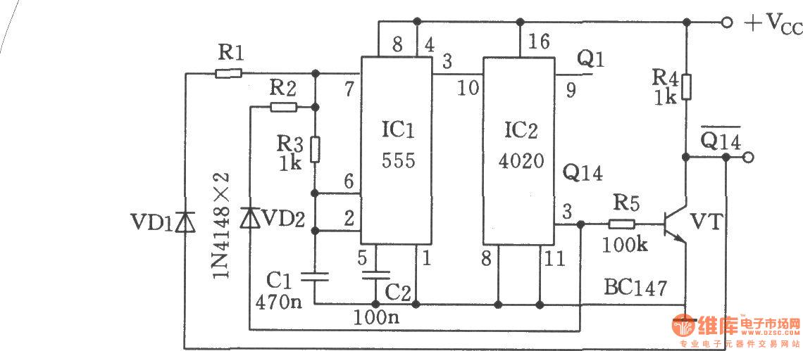 【图】长周期通/断的多谐振荡器多谐振荡产生
