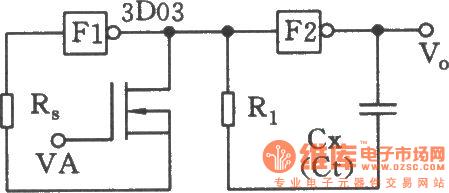 用CMOS与非门构成的压控振荡器