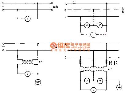 交流与直流两用电压表的接线方法电路图