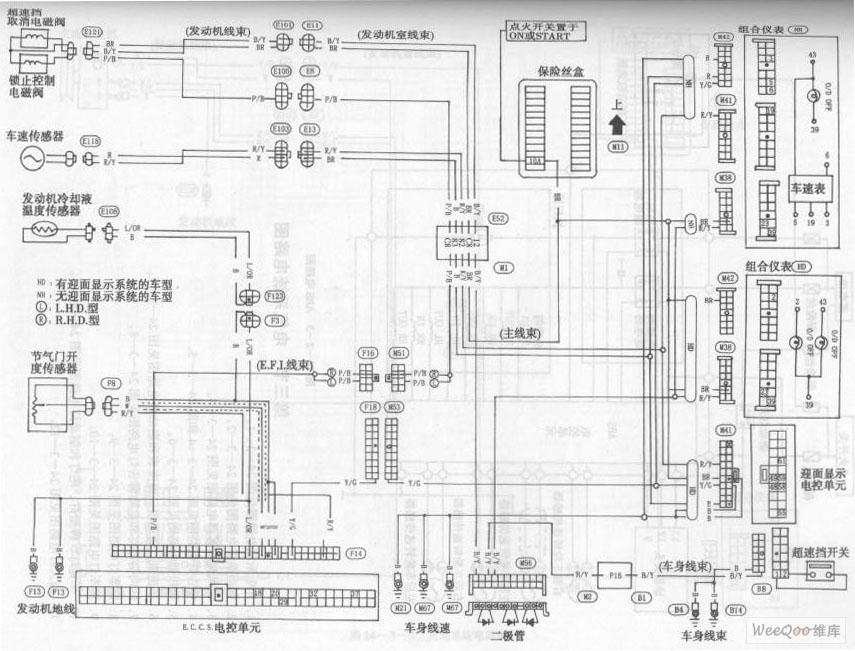 风神蓝鸟轿车自动变速器电路图二