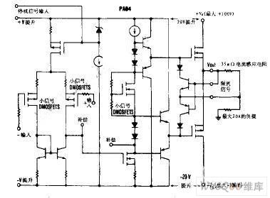 【图】功率运算放大器内部电路图线性放大电路