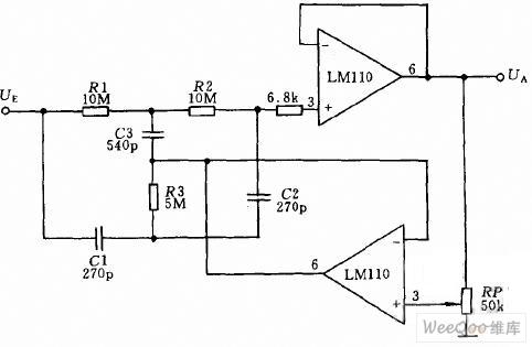 【图】运放作电压跟随器的陷波滤波器电路图滤波器