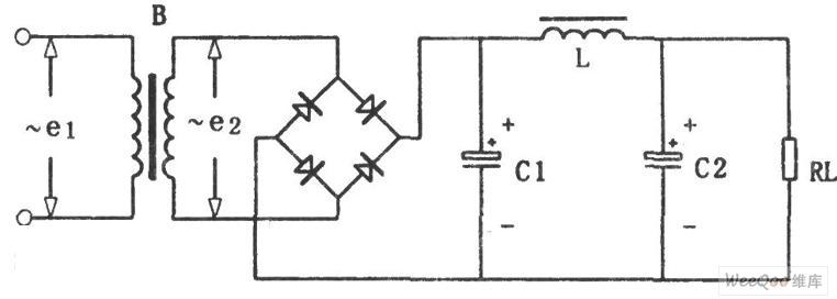 直流稳压电源LC滤波电路图