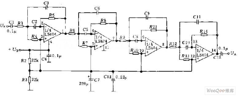 多级通信滤波器电路图