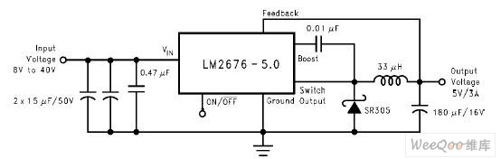 04 25 5V 4W开关型稳压直流电源电路图图片