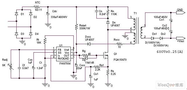 交流220V转直流600V开关电源电路图图片