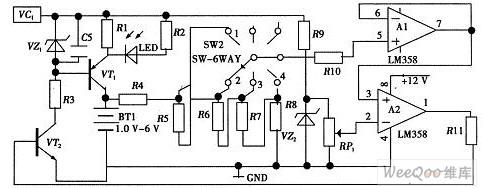 自动充电检测电路和指示电路图